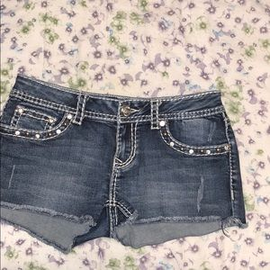 L.A IDOL cut off jeans shorts (M)